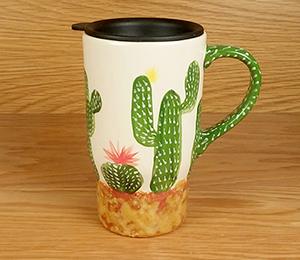 Delray Beach Cactus Travel Mug