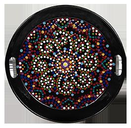 Delray Beach Mosaic Mandala Tray