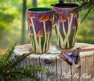 Delray Beach Mushroom Mugs