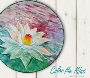 Delray Beach Lotus Flower Plate