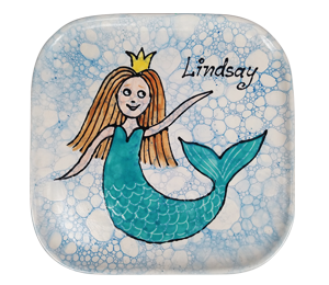 Delray Beach Mermaid Plate