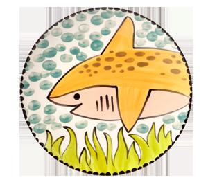 Delray Beach Happy Shark Plate