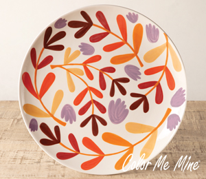 Delray Beach Fall Floral Charger