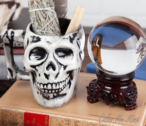 Delray Beach Antiqued Skull Mug