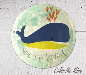 Delray Beach Whale Love Plate