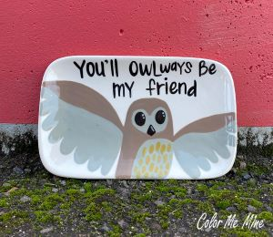 Delray Beach Owl Plate