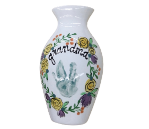 Delray Beach Floral Handprint Vase