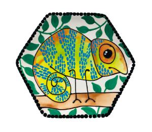 Delray Beach Chameleon Plate