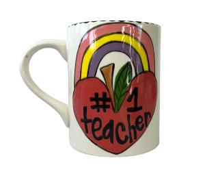Delray Beach Rainbow Apple Mug