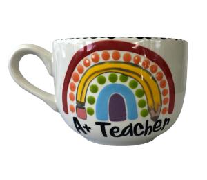 Delray Beach Polka Dot Rainbow Mug